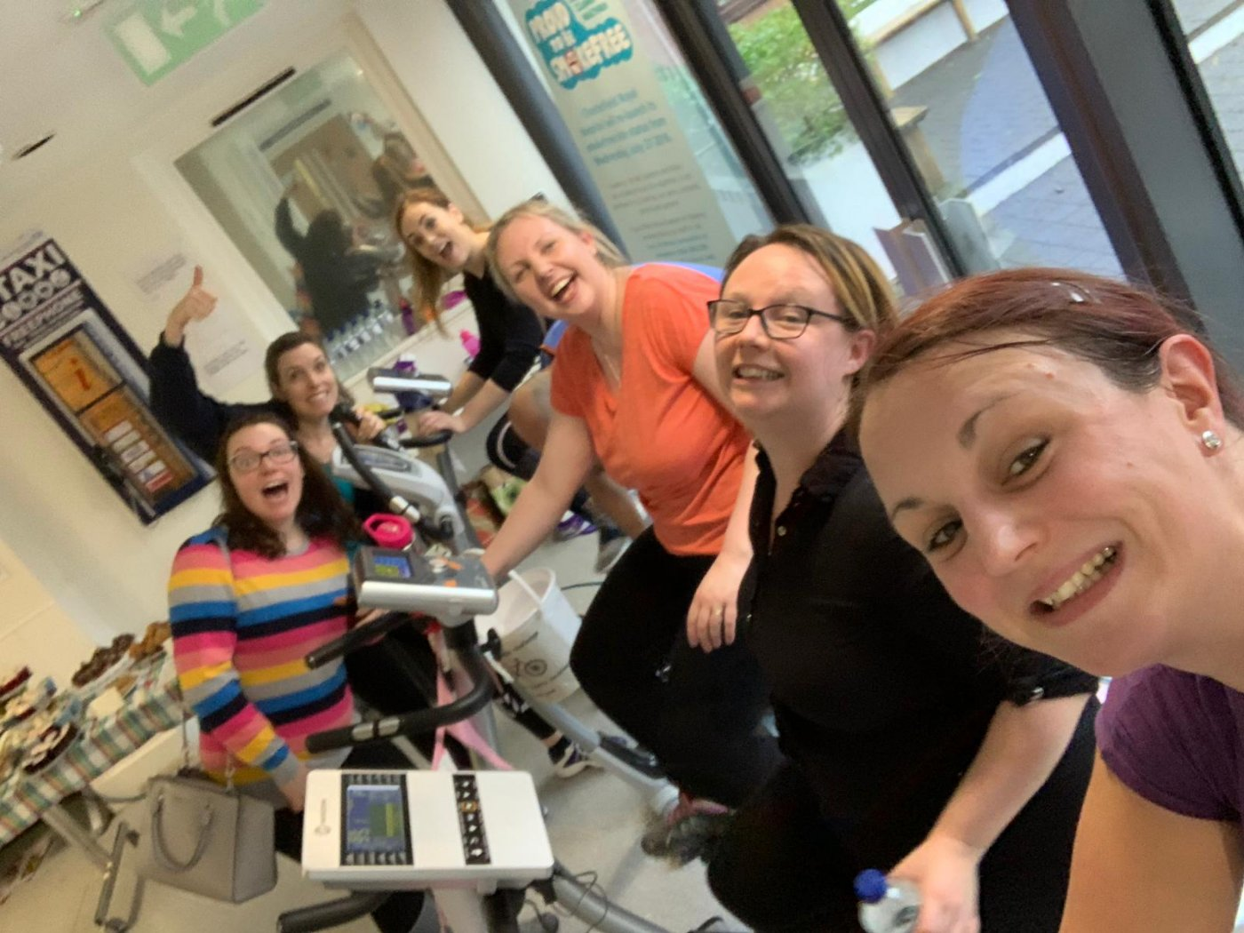 Midwifery team get on their bikes for charity...